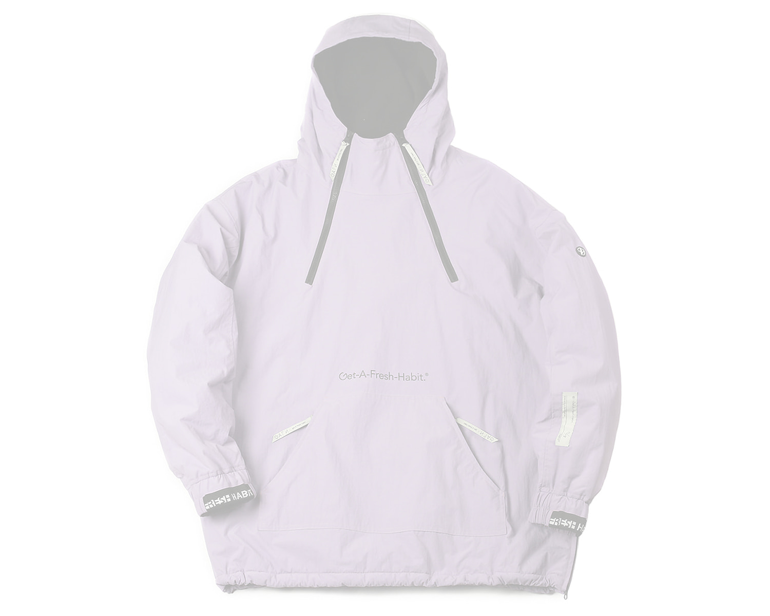 DOUBLE ZIP UP PULLOVER LAVENDER / GAFH