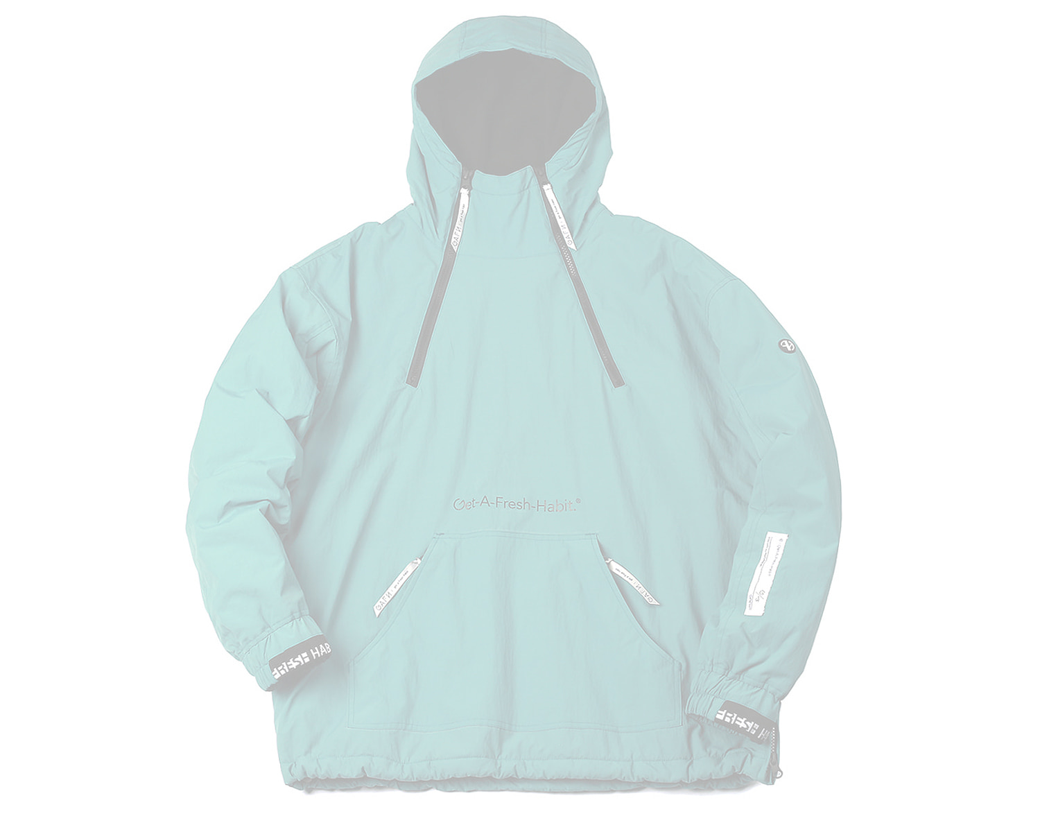 DOUBLE ZIP UP PULLOVER TEAL / GAFH