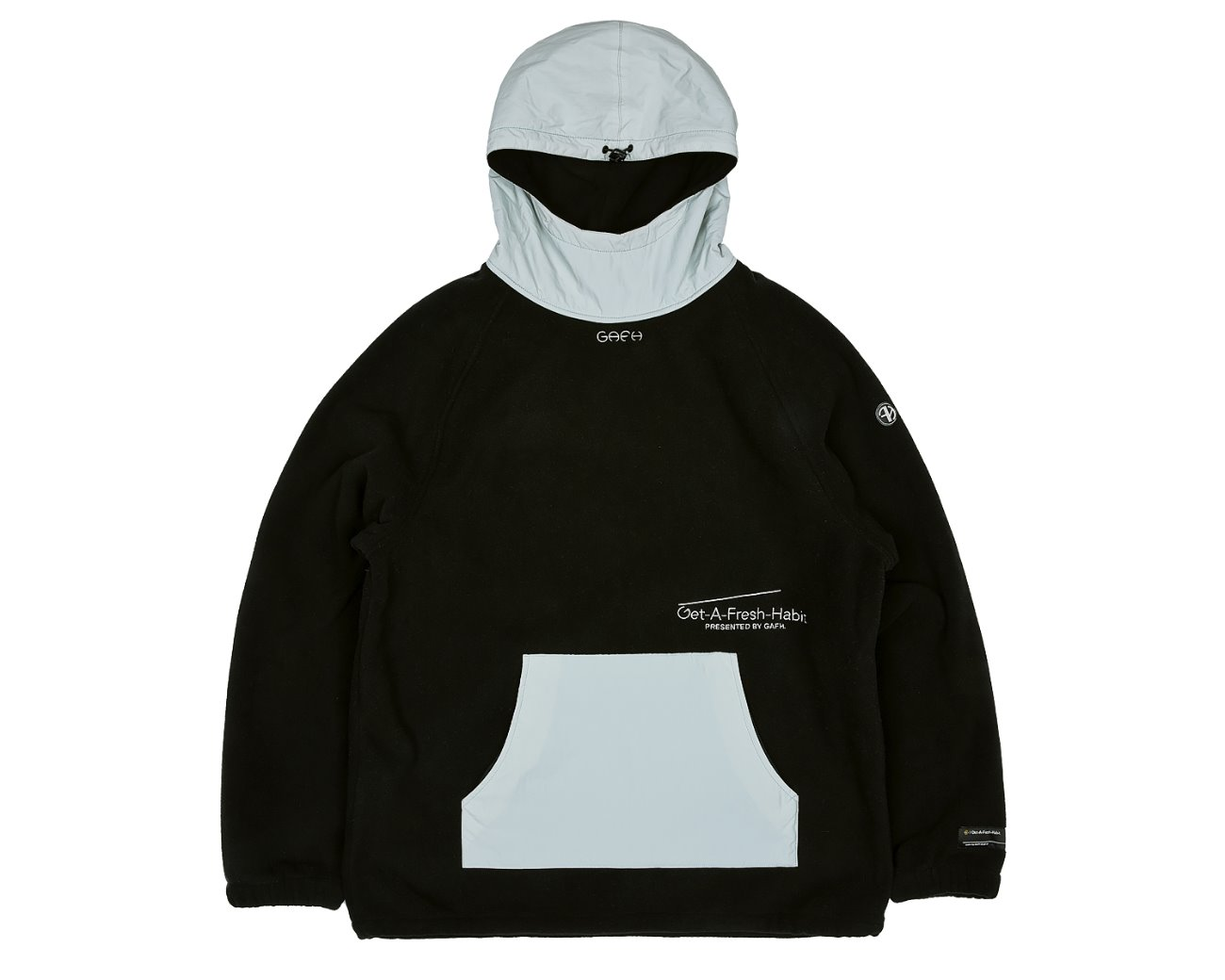 FLEECE WARM UP HOODIE BLACK / GAFH