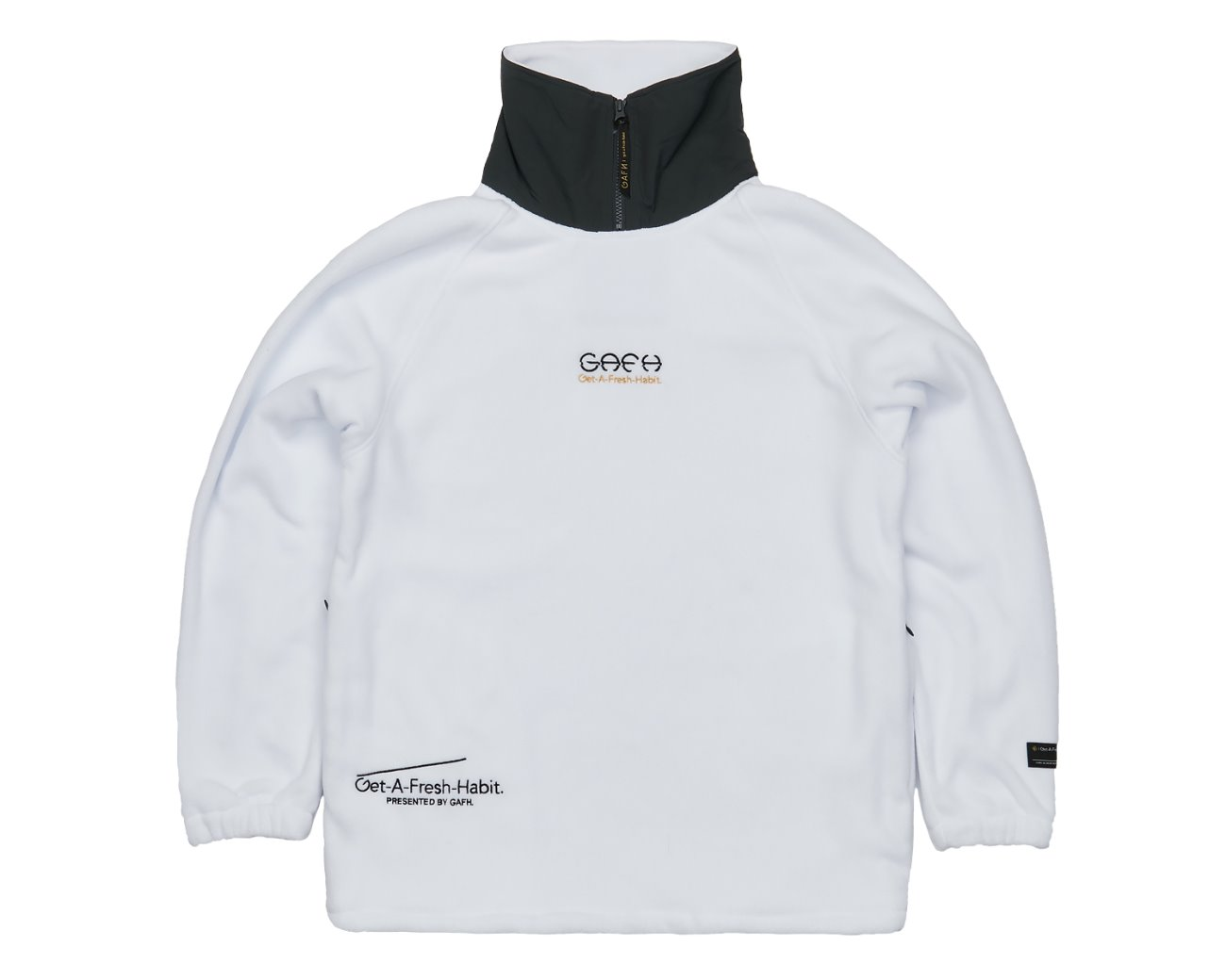 FLEECE HIGH NECK WHITE / GAFH