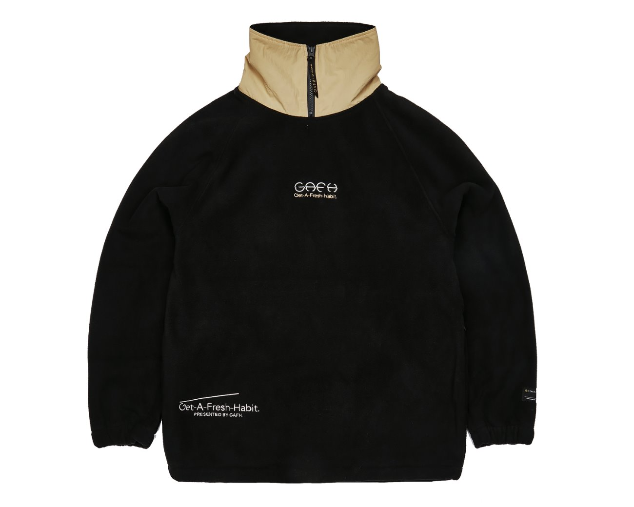FLEECE HIGH NECK BLACK / GAFH