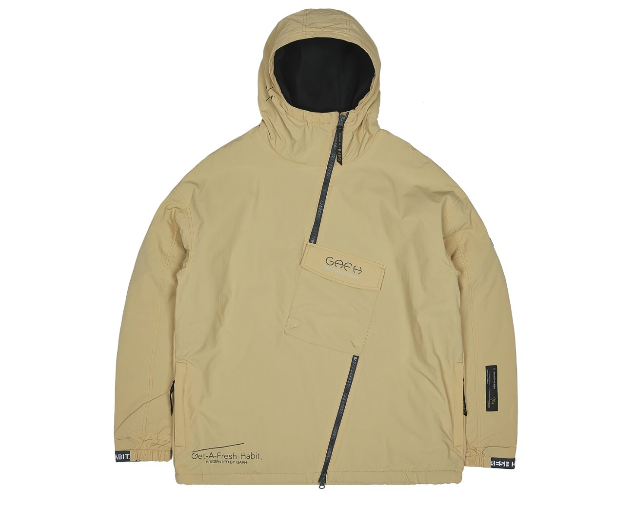 SIDE ZIP UP PULLOVER WHEAT / GAFH