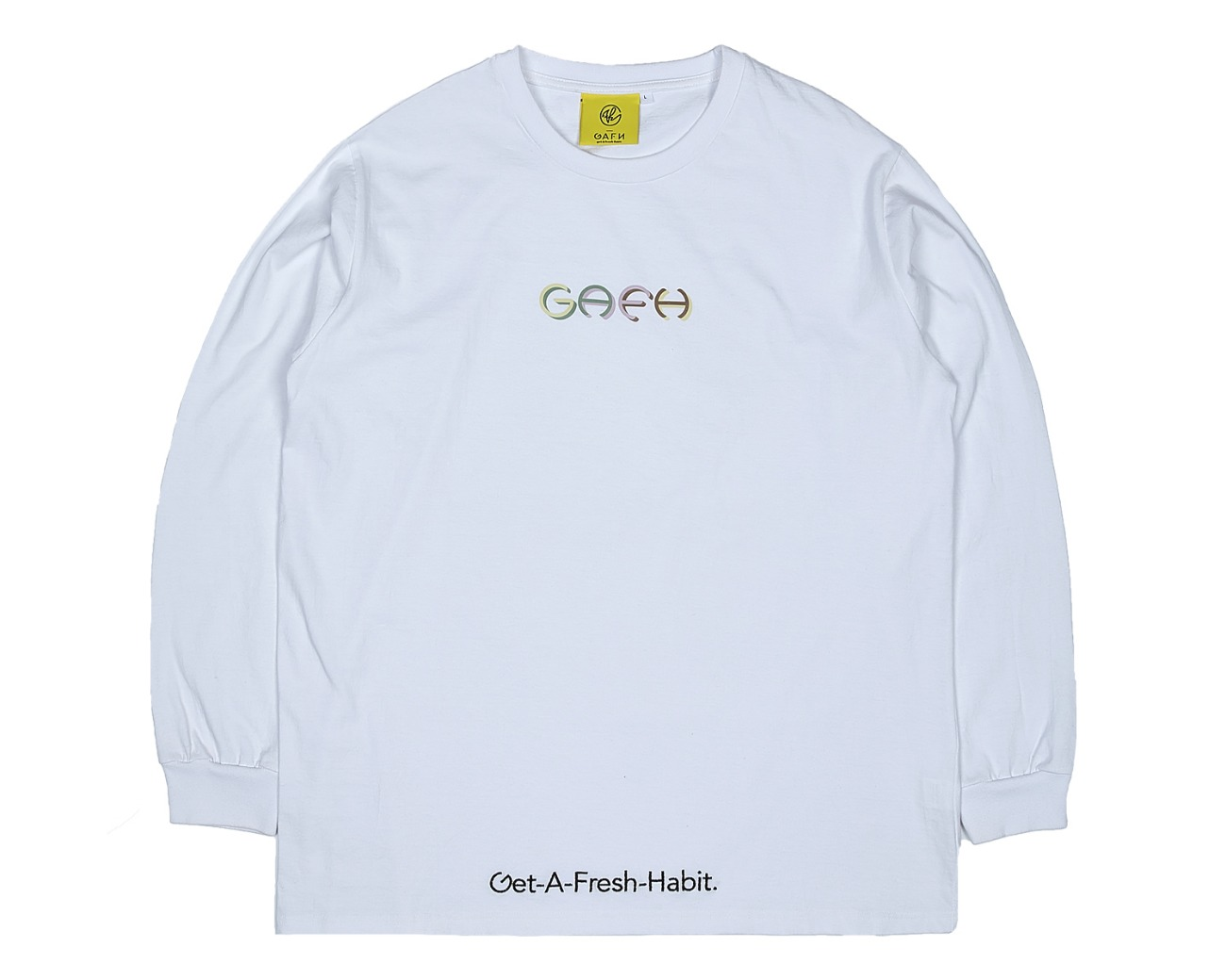 COLOR LOGO LONG SLV WHITE / GAFH