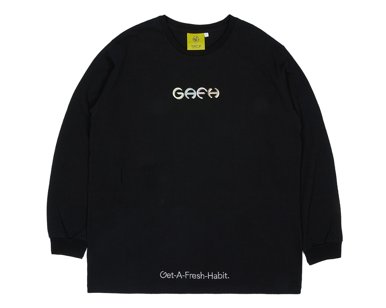COLOR LOGO LONG SLV BLACK / GAFH