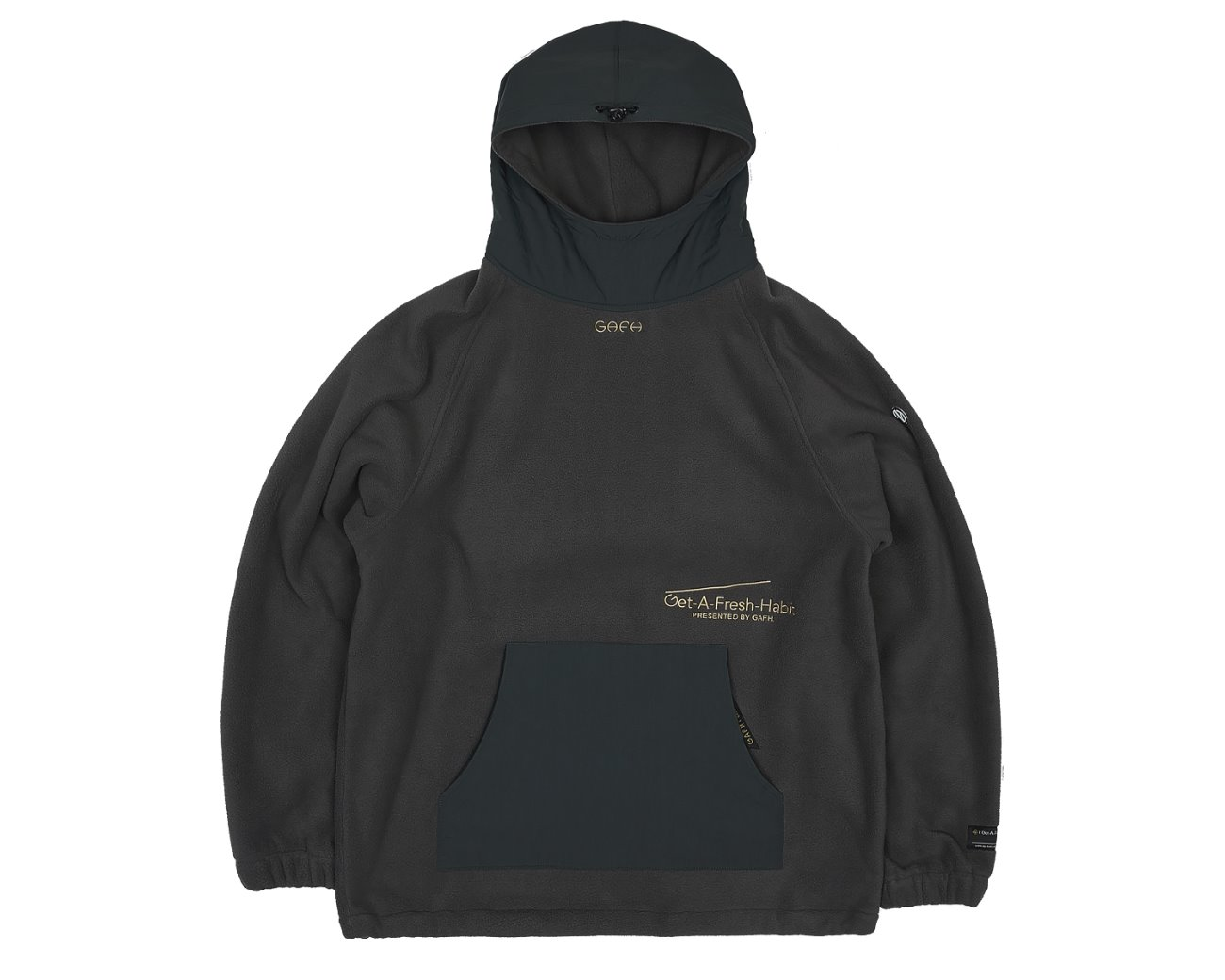 FLEECE WARM UP HOODIE GRAY / GAFH