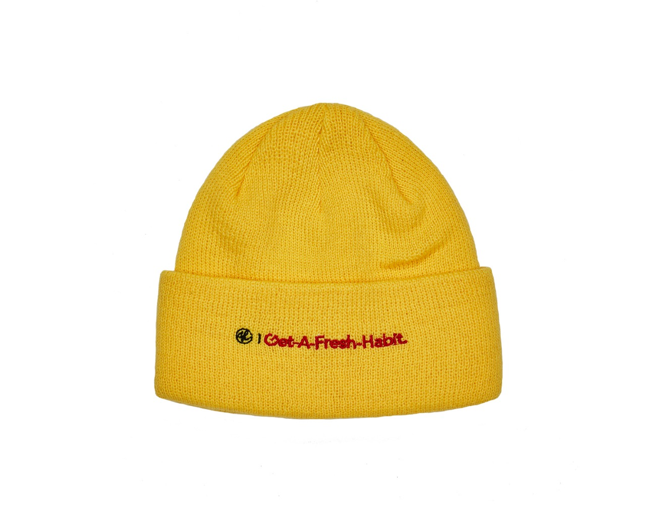 GAFH NEEDLEPOINT BEANIE YELLOW / GAFH