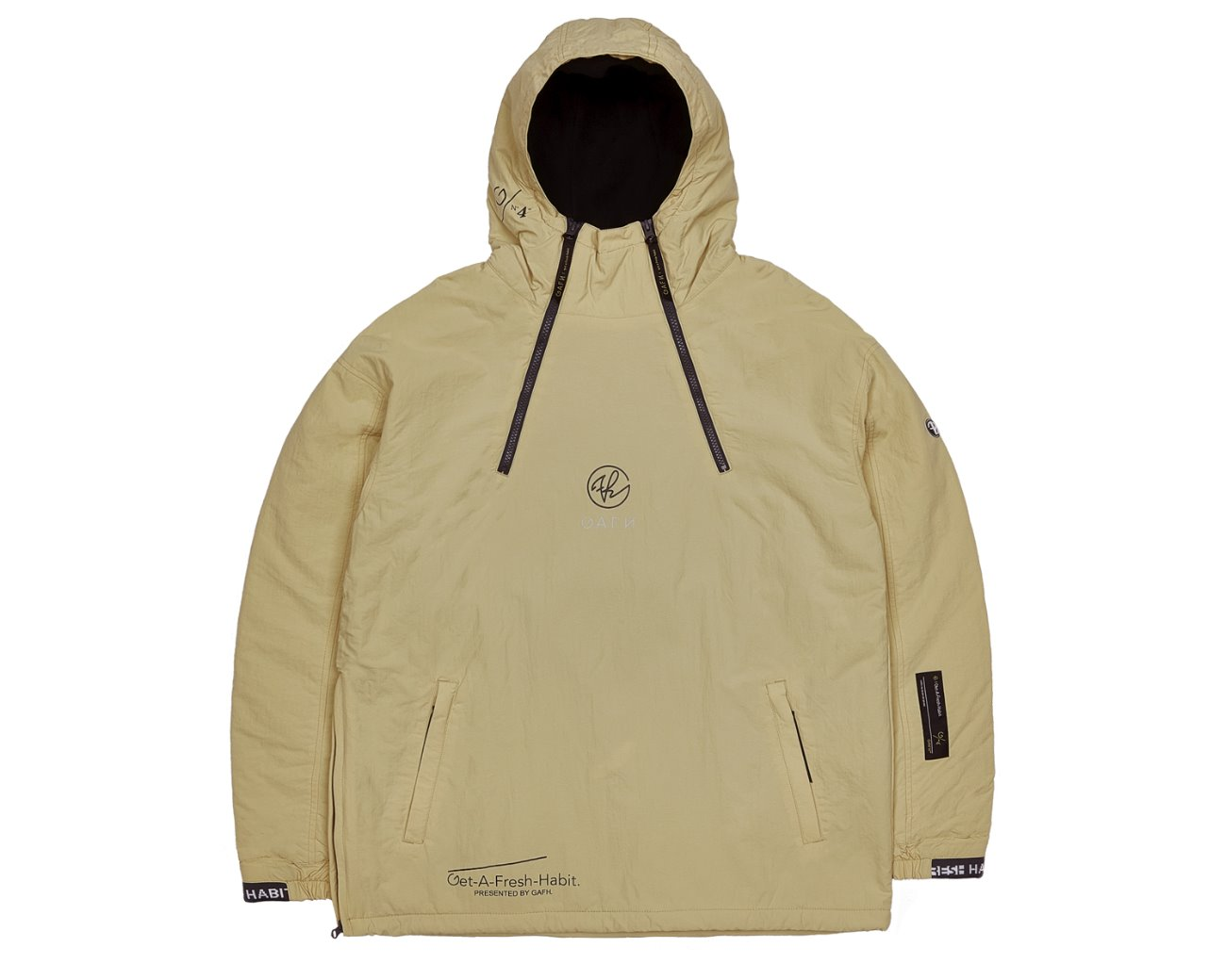 DOUBLE ZIP UP PULLOVER WHEAT / GAFH