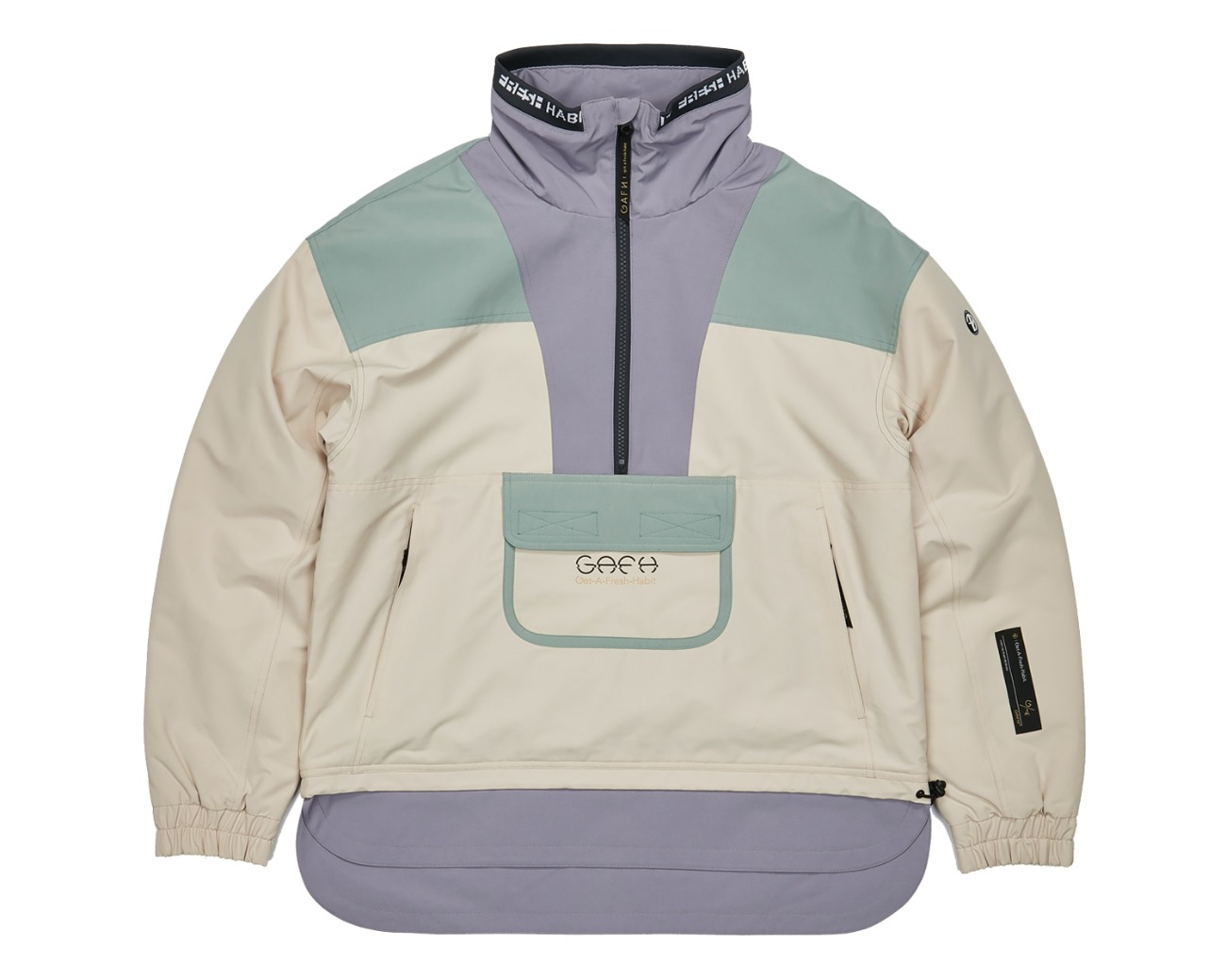 COLOR BLOCKED PULLOVER / GAFH