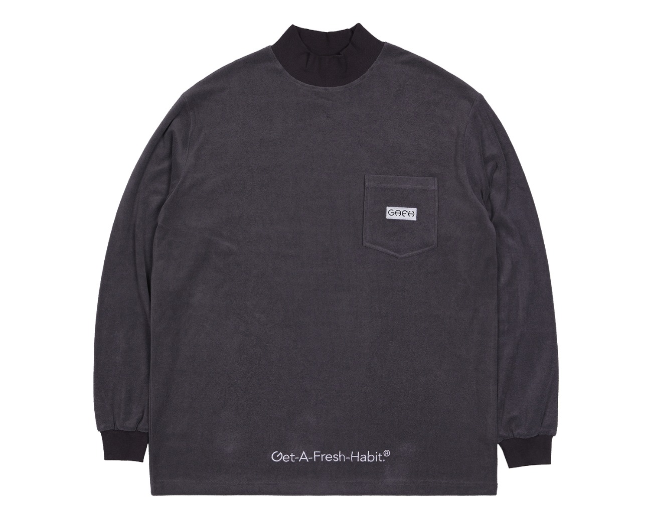 TERRY MOCK NECK GRAY / GAFH